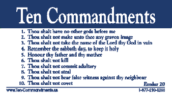 Pin Ten Commandments List Printable on Pinterest
